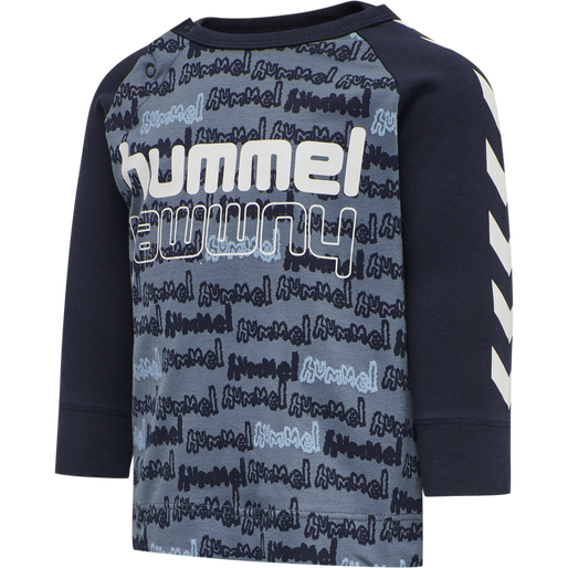 hmlBILLY T-SHIRT L/S, CHINA BLUE, packshot