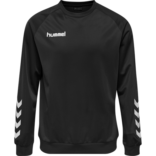 hmlPROMO KIDS POLY SWEATSHIRT, BLACK, packshot