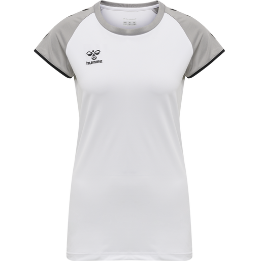 hmlCORE VOLLEY STRETCH TEE WO, WHITE, packshot
