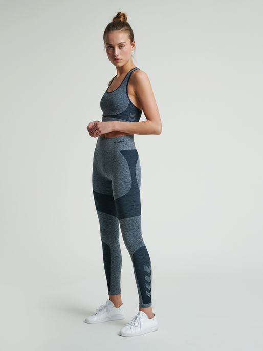 hmlROSA SEAMLESS HW 7/8 TIGHTS, BLUE NIGHTS MELANGE, model