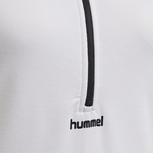 hmlSHELL HALF ZIP S/L, WHITE, packshot