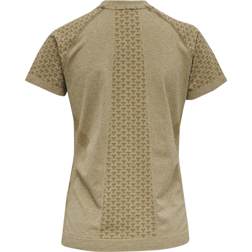 hmlCI SEAMLESS T-SHIRT S/S, ANTIQUE BRONZE MELANGE, packshot