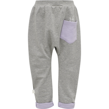 hmlALBERTE PANTS, GREY MELANGE, packshot