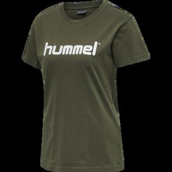 HUMMEL GO COTTON LOGO T-SHIRT WOMAN S/S, GRAPE LEAF, packshot