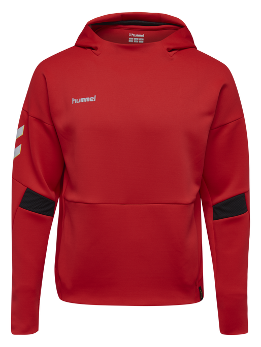 TECH MOVE KIDS POLY HOODIE, TRUE RED, packshot