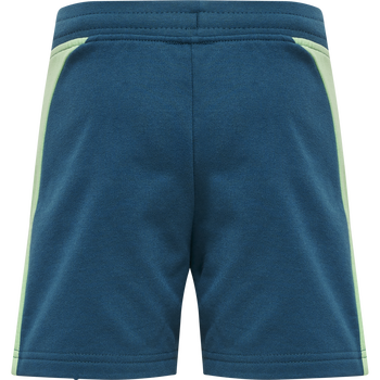 hmlACTION COTTON SHORTS KIDS, BLUE CORAL/GREEN ASH, packshot