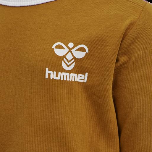 hmlMAUI T-SHIRT L/S, PUMPKIN SPICE, packshot