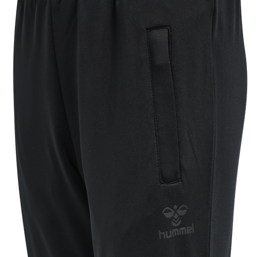 hmlASTON KIDS TAPERED PANTS, BLACK, packshot