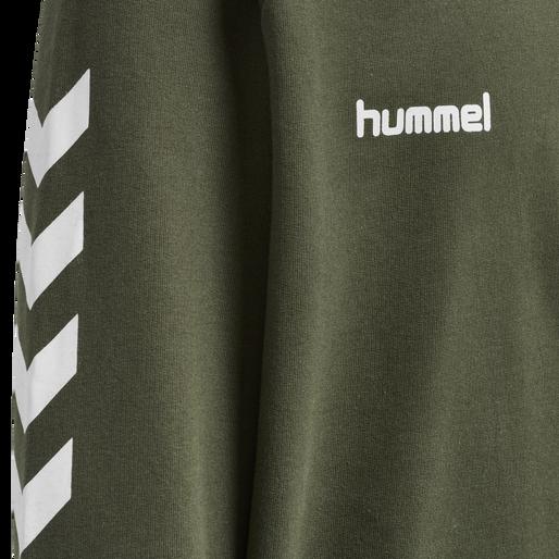 HUMMEL GO KIDS COTTON HOODIE, GRAPE LEAF, packshot