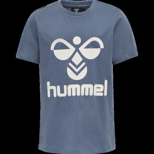 hmlTRES TEE SHIRT S/S, CHINA BLUE, packshot