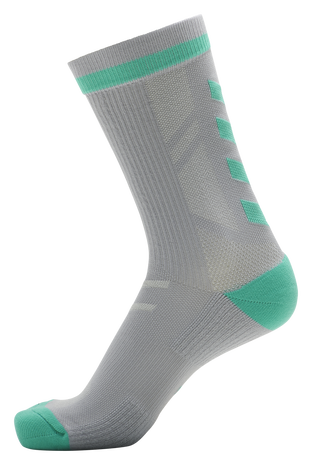 hmlACTION INDOOR SOCK LOW, ALLOY/ ELECTRIC GREEN, packshot