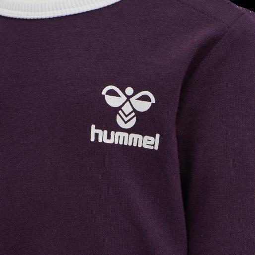 hmlMAUI T-SHIRT L/S, BLACKBERRY WINE, packshot