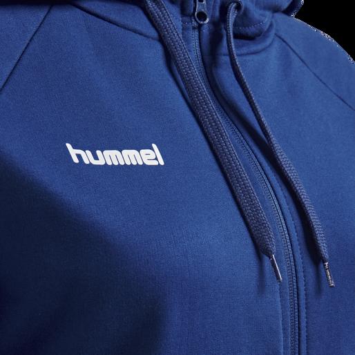 HUMMEL GO COTTON ZIP HOODIE WOMAN, TRUE BLUE, packshot