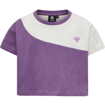 hmlCHLOE CROPPED T-SHIRT S/S, CHINESE VIOLET, packshot