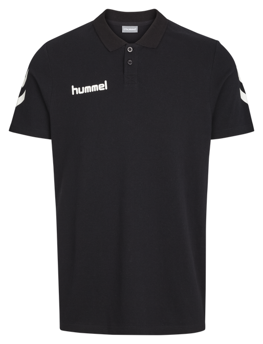 CORE COTTON POLO, BLACK, packshot