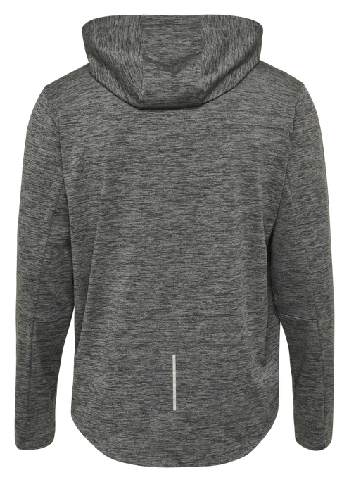 hmlASTON HOODIE, DARK GREY MELANGE, packshot