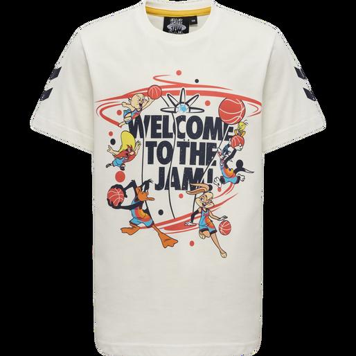 hmlSPACE JAM TRES T-SHIRT S/S, MARSHMALLOW, packshot