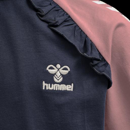 hmlPERNILLE T-SHIRT S/S, BLACK IRIS, packshot