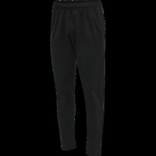 hmlACTION COTTON PANTS, BLACK/CACTUS, packshot