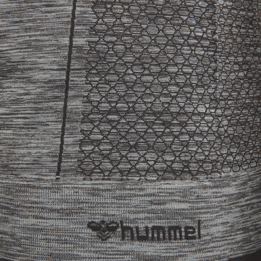 hmlMORTEN SEAMLESS T-SHIRT L/S, QUARRY, packshot