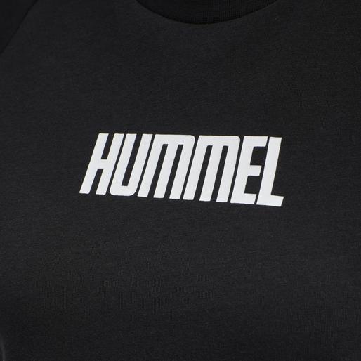 hmlSIMONE T-SHIRT, BLACK, packshot