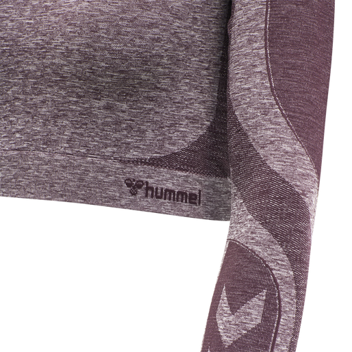 hmlKADY SEAMLESS T-SHIRT L/S, FUDGE MELANGE, packshot