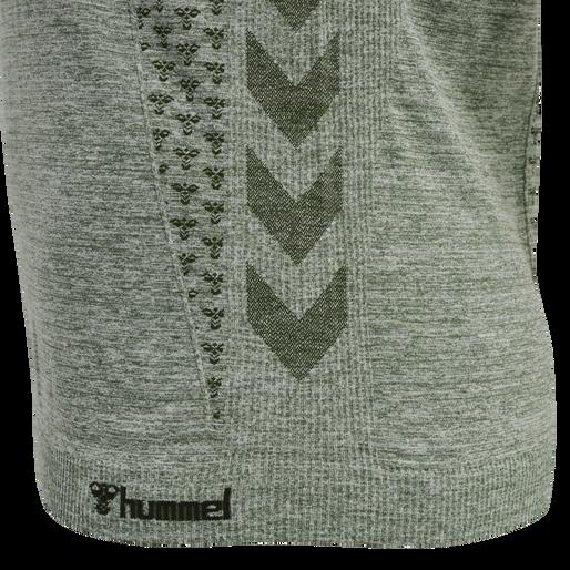 hmlCI SEAMLESS T-SHIRT, THYME MELANGE, packshot