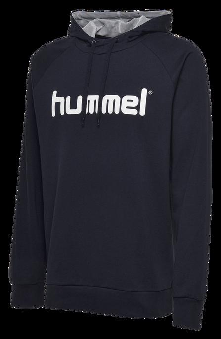 HUMMEL GO COTTON LOGO HOODIE, MARINE, packshot