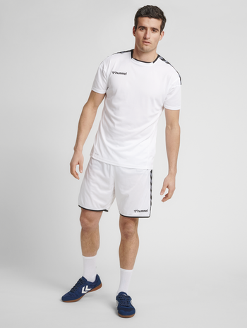 hmlAUTHENTIC POLY JERSEY S/S, WHITE/TRUE BLUE, model