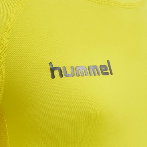 HUMMEL FIRST PERFORMANCE KIDS JERSEY L/S, BLAZING YELLOW, packshot