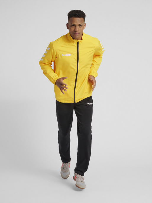 CORE MICRO ZIP JACKET, SPORTS YELLOW, model