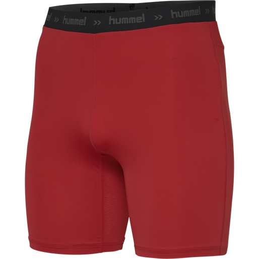 HUMMEL FIRST PERFORMANCE KIDS TIGHT SHORTS, TRUE RED, packshot