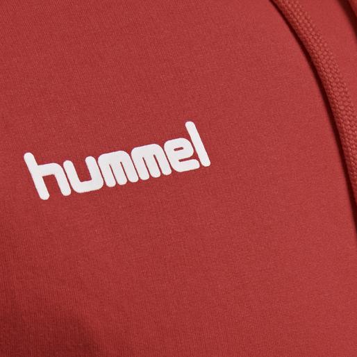 HUMMEL GO COTTON HOODIE, TRUE RED, packshot