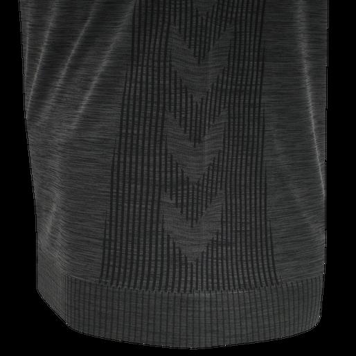 hmlTRACKER SEAMLESS T-SHIRT, BLACK MELANGE, packshot
