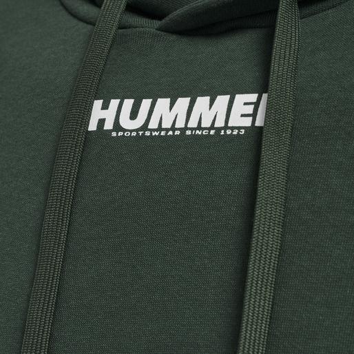 hmlLEGACY HOODIE, DARKEST SPRUCE, packshot