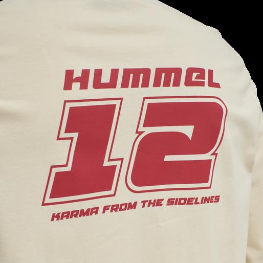 hmlDANIEL T-SHIRT L/S, BONE WHITE, packshot