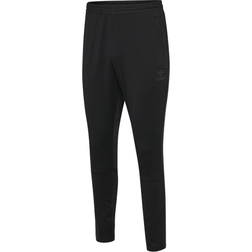 hmlASTON TAPERED PANTS, BLACK, packshot