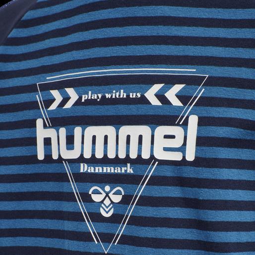 hmlKENJI T-SHIRT L/S, BLUE SAPPHIRE, packshot
