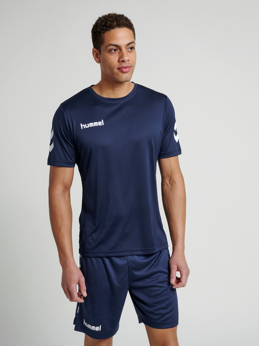 CORE POLYESTER TEE, MARINE, model