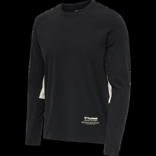 hmlALASKA T-SHIRT L/S, BLACK, packshot