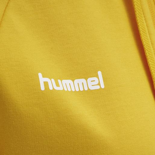 HUMMEL GO COTTON ZIP HOODIE WOMAN, SPORTS YELLOW, packshot