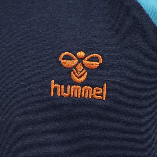hmlMICHAEL T-SHIRT L/S, SCUBA BLUE, packshot