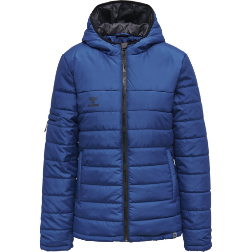 hmlNORTH QUILTED HOOD JACKET WOMAN, TRUE BLUE, packshot