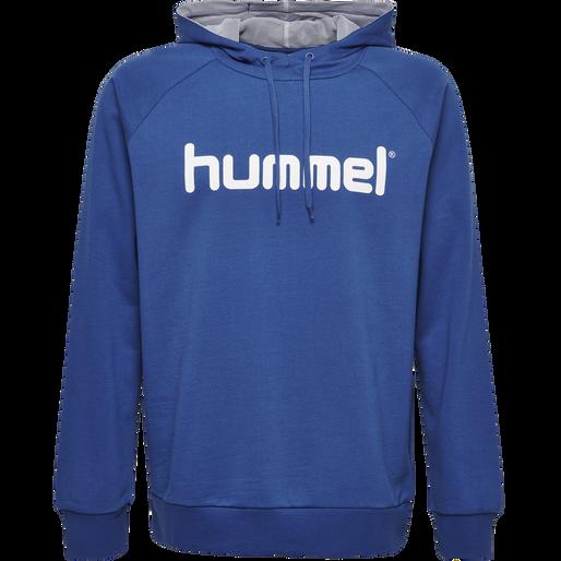 HUMMEL GO KIDS COTTON LOGO HOODIE, TRUE BLUE, packshot