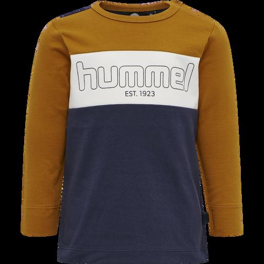 hmlNORTH T-SHIRT L/S, PUMPKIN SPICE, packshot