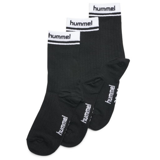 hmlCONI 3-PACK SOCK, BLACK, packshot