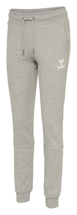 hmlNONI REGULAR PANTS, GREY MELANGE, packshot