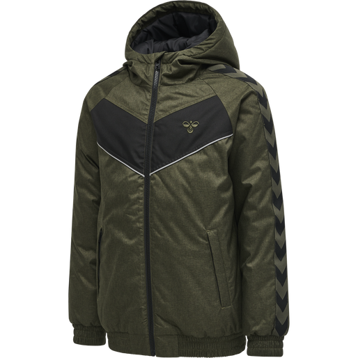 hmlBOND JACKET, OLIVE NIGHT MELANGE, packshot