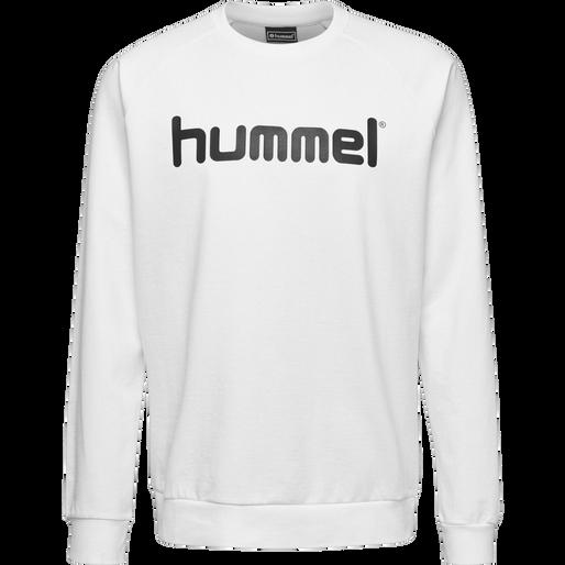 HUMMEL GO COTTON LOGO SWEATSHIRT, WHITE, packshot
