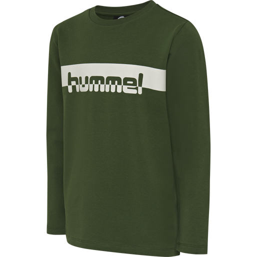 hmlOTTO T-SHIRT L/S, GREENER PASTURES, packshot